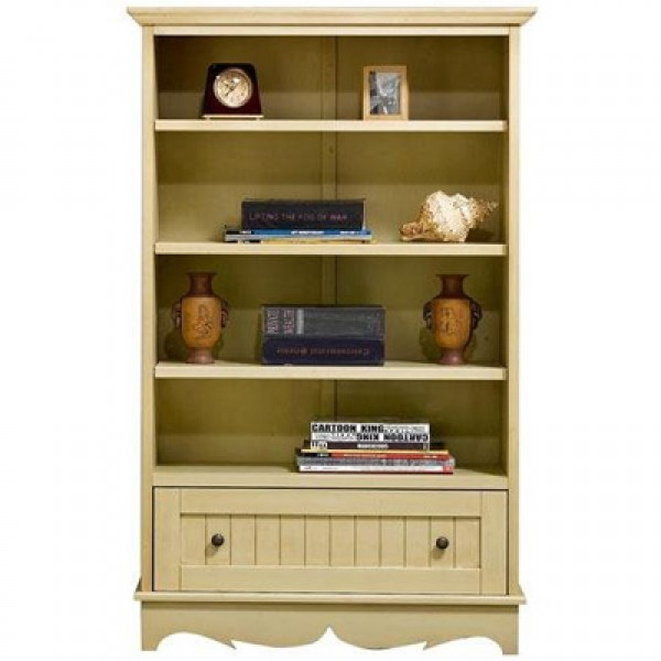 French Country Open Four Shelf Bookcase